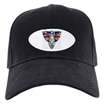 British Iron Motorcycle Black Cap
