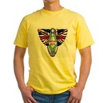 British Iron Motorcycle Yellow T-Shirt