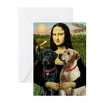 Mona / Labrador Greeting Cards (Pk of 10)