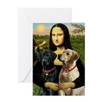 Mona / Labrador Greeting Card