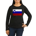 Slovenia Women's Long Sleeve Dark T-Shirt