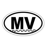 Martha's Vineyard MV Footprints Oval Decal