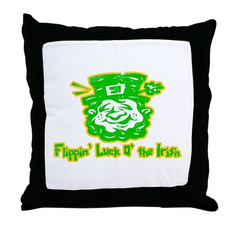 Flippin' Luck O' the Irish Throw Pillow