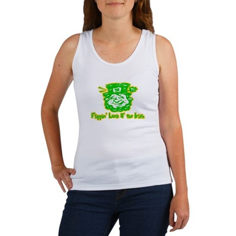Flippin' Luck O' the Irish Womens Tank Top