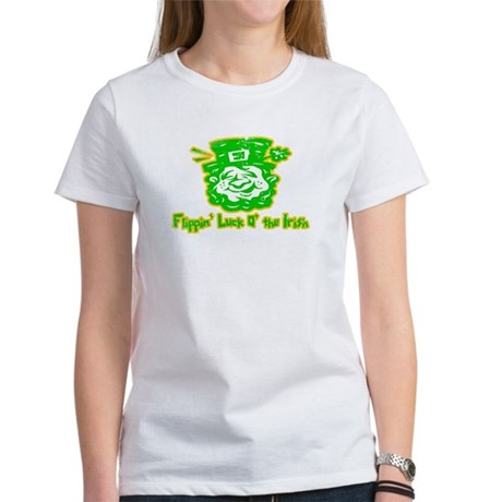 Flippin' Luck O' the Irish Womens T-Shirt
