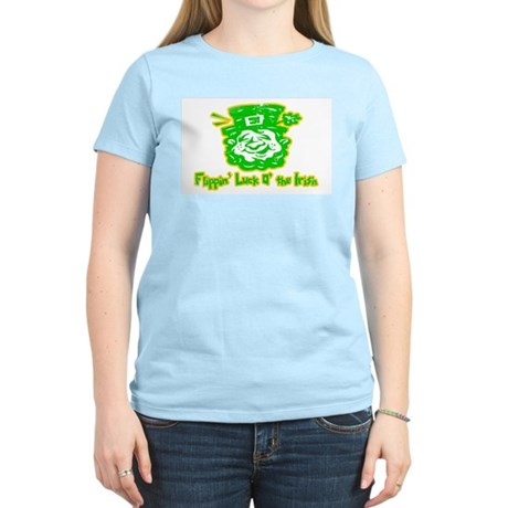 Flippin' Luck O' the Irish Womens Pink T-Shirt