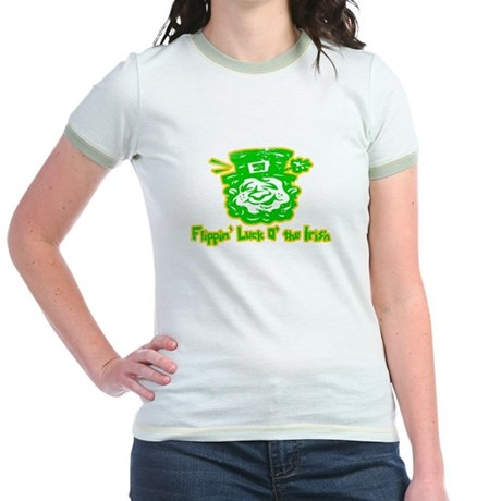 Flippin' Luck O' the Irish Jr Ringer T-shirt