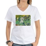 Irises / Westie Women's V-Neck T-Shirt