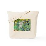 Irises / Westie Tote Bag