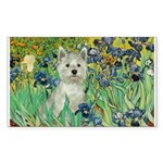 Irises / Westie Sticker (Rectangle)