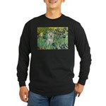 Irises / Westie Long Sleeve Dark T-Shirt