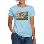 Lilies (#2)/Pug (#2) Women's Light T-Shirt