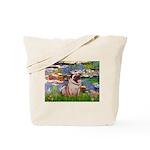 Lilies (#2)/Pug (#2) Tote Bag