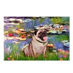 Lilies (#2)/Pug (#2) Postcards (Package of 8)