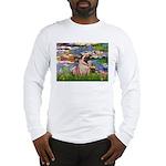 Lilies (#2)/Pug (#2) Long Sleeve T-Shirt