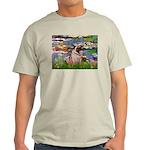 Lilies (#2)/Pug (#2) Light T-Shirt
