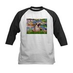 Lilies (#2)/Pug (#2) Kids Baseball Jersey