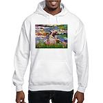 Lilies (#2)/Pug (#2) Hooded Sweatshirt