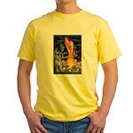Fairies / G Schnauzer Yellow T-Shirt