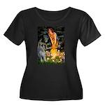 Fairies / G Schnauzer Women's Plus Size Scoop Neck