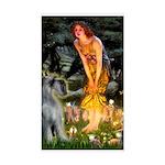 Fairies / G Schnauzer Sticker (Rectangle)