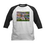 Lilies / M Schnauzer Kids Baseball Jersey
