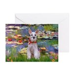 Lilies / M Schnauzer Greeting Cards (Pk of 20)