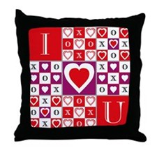 Heartvision Game of Love Throw Pillow