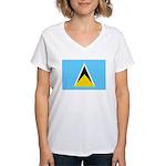 Saint Lucia Women's V-Neck T-Shirt