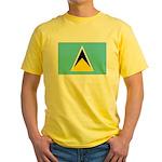 Saint Lucia Yellow T-Shirt