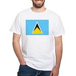 Saint Lucia White T-Shirt