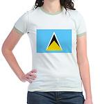 Saint Lucia Jr. Ringer T-Shirt