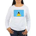 Saint Lucia Women's Long Sleeve T-Shirt