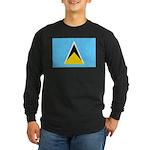 Saint Lucia Long Sleeve Dark T-Shirt