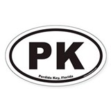 Perdido Key PK Euro Oval Decal