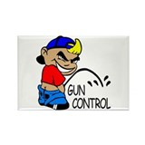P On Gun Control Rectangle Magnet