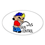 P On Gun Control Oval Decal