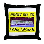 Point Me To The Park Throw Pillow