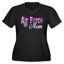 Air Force Mom Women's Plus Size V-Neck Dark T-Shi