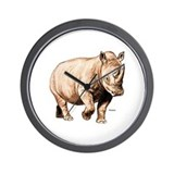 Rhino Rhinoceros Wall Clock