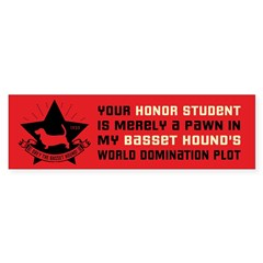 Basset Hound Domination Bumper Sticker