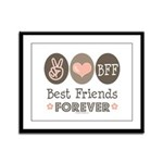 Peace Love BFF Friendship Framed Panel Print