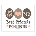 Peace Love BFF Friendship Small Poster