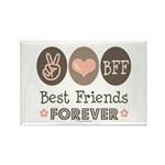 Peace Love BFF Friendship Rectangle Magnet