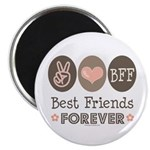 Peace Love BFF Friendship Magnet