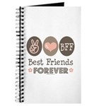 Peace Love BFF Friendship Journal