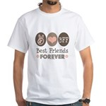 Peace Love BFF Friendship White T-Shirt