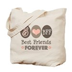 Peace Love BFF Friendship Tote Bag