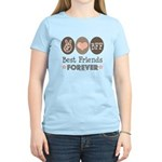Peace Love BFF Friendship Women's Light T-Shirt