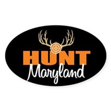 Hunt Maryland Oval Decal